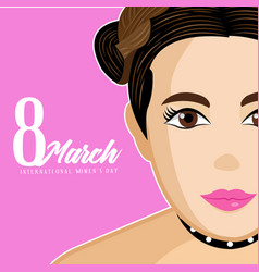 international women day vector image