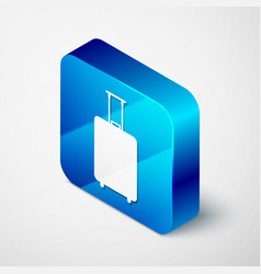 Isometric travel suitcase icon isolated on white vector