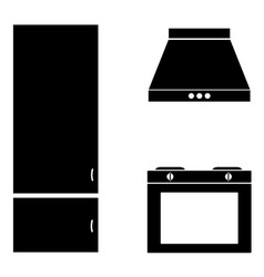 Kitchen room sign modern kitchen interior with vector