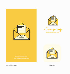 letter company logo app icon and splash page vector image