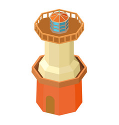 lighthouse water icon isometric 3d style vector image