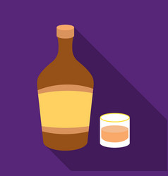 liqueur icon in flat style isolated on white vector image