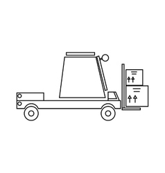 Loader icon outline style vector image
