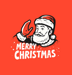 merry christmas santa claus pop art style vector image