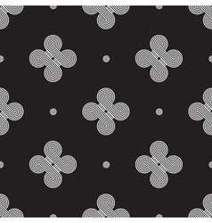 Minimalistic geometry black and white vector