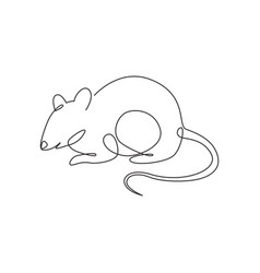 one continuous line drawing cute adorable vector image