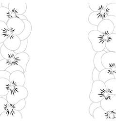 pansy flower border outline vector image