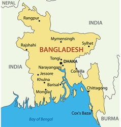 Peoples Republic of Bangladesh - map vector image