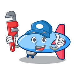 Plumber zeppelin mascot cartoon style vector