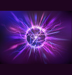 Realistic electric ball or abstract plasma sphere vector