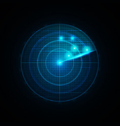Realistic radar in searching vector