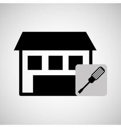 screwdriver repair construction house icon vector image