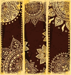 Set ethnic bookmarks vector