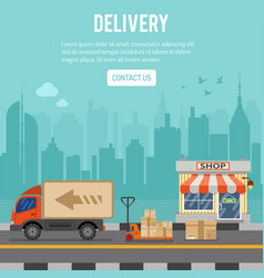 Shopping and delivery concept vector