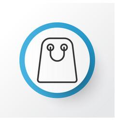 shopping bag icon symbol premium quality isolated vector image