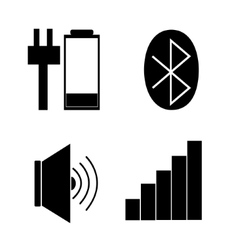 taskbar icons Stock vector image