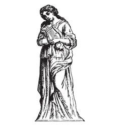 terpsichore vintage vector image