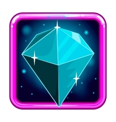 The application icon with gems 4 vector image vector image