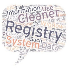 The Importance Of A Registry Cleaner text vector