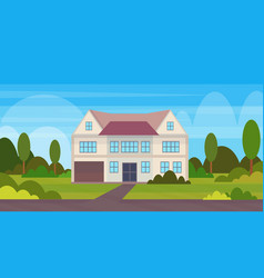 town house cottage country real estate concept vector image