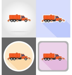 Truck flat icons 15 vector