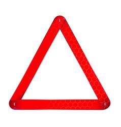 Vehicle warning triangle vector
