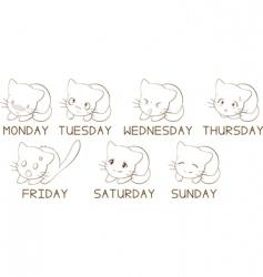 weekdays vector image