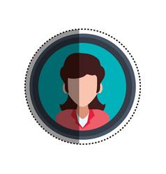 Woman faceless portrait picture vector