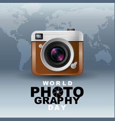 world photography day eventa vintage camera vector image