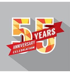 55th Years Anniversary Celebration Design vector image