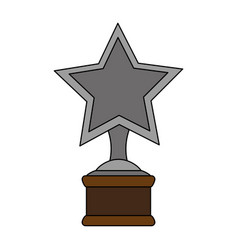 color image cartoon trophy with symbol star vector image vector image