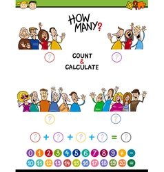Math task for preschool children vector