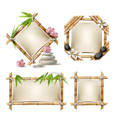 set of bamboo frames vector image