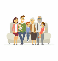 happy family - cartoon people characters isolated vector image vector image