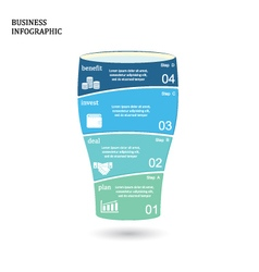 Business startup idea concept with 4 options vector image