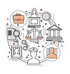 Line Art Judicial Concept vector image