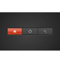premium web buttons vector image vector image