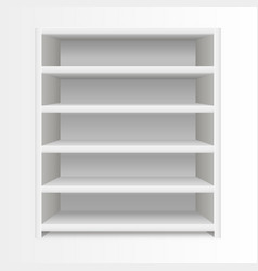 realistic template blank white shelves vector image