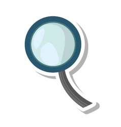 search magnifying glass isolated icon vector image
