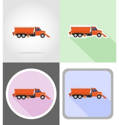 truck flat icons 16 vector image vector image