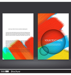 Abstract acrylic painted brochure vector image vector image