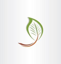 branch leaf eco symbol vector image vector image