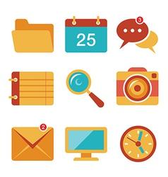 Flat icons set 3 vector image