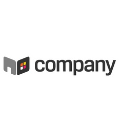 home furniture logo vector image