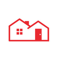 simple red housing vector image vector image