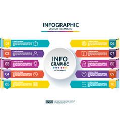 10 steps business infographic timeline design vector