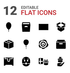 12 surprise icons vector