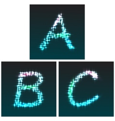 A B C glow vector