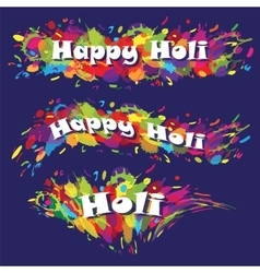 Abstract for Happy Holi colourful background vector image
