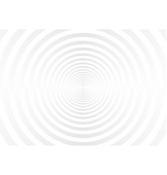 abstract white and gray radial circles tunnel vector image